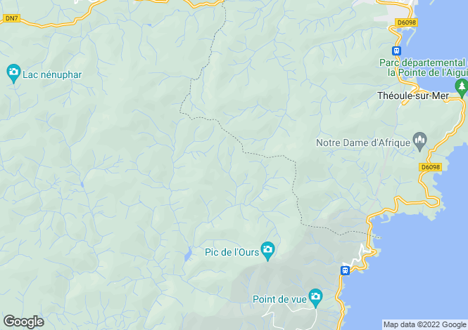 Map for Saint-Raphaël Valescure, France