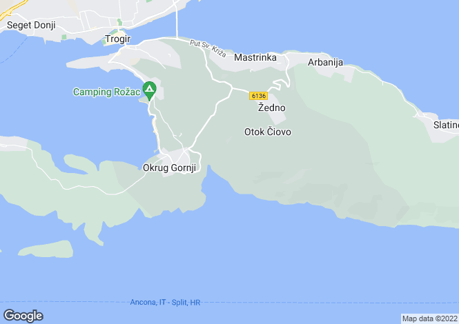 Map for Split-Dalmatia, Gornji Okrug