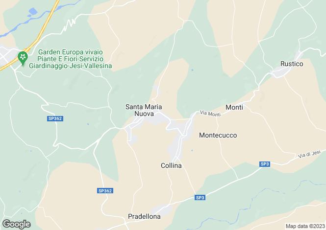 Map for Italy - Le Marche, Ancona, Santa Maria Nuova