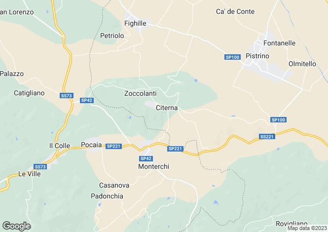 Map for Citerna, Perugia, Umbria