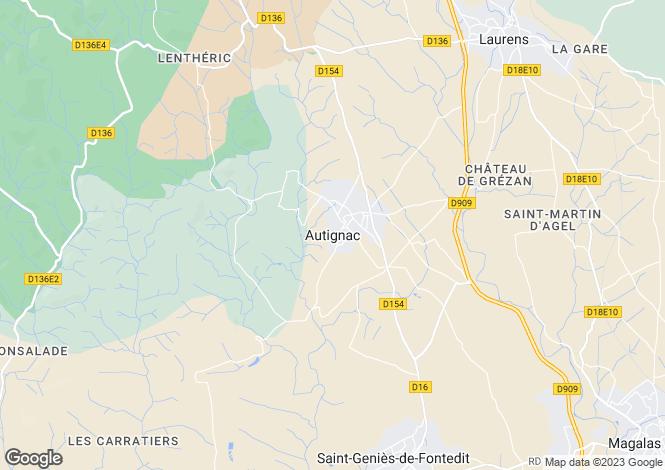 Map for Autignac, Languedoc-Roussillon, 34480, France