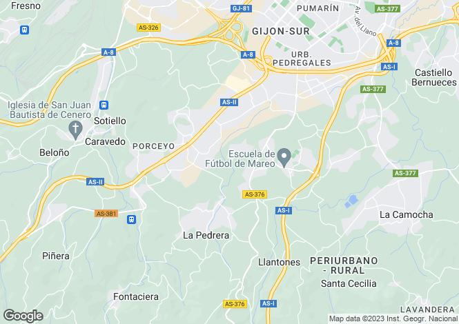 Map for Gijon, Asturias, Spain