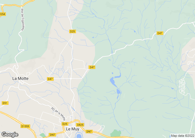 Map for Provence-Alps-Cote d`Azur, Var, La Motte