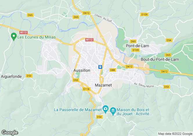 Map for mazamet, Tarn, France