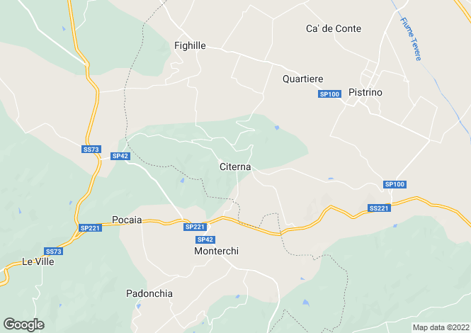 Map for Citerna, Umbria, Italy