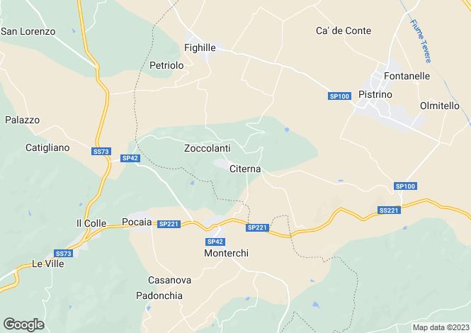 Map for Citerna, Perugia, Italy