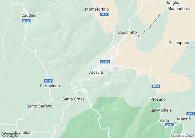 Map for Arcevia, Ancona, Le Marche