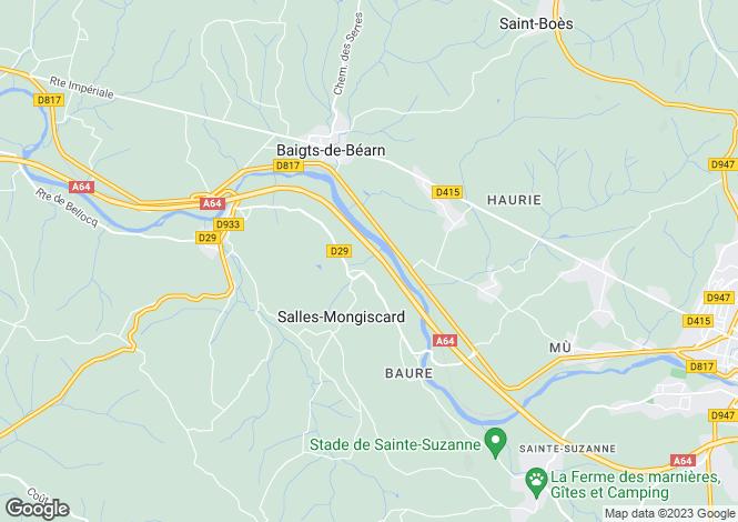 Map for Salles-Mongiscard, Pyrénées-Atlantiques, Aquitaine