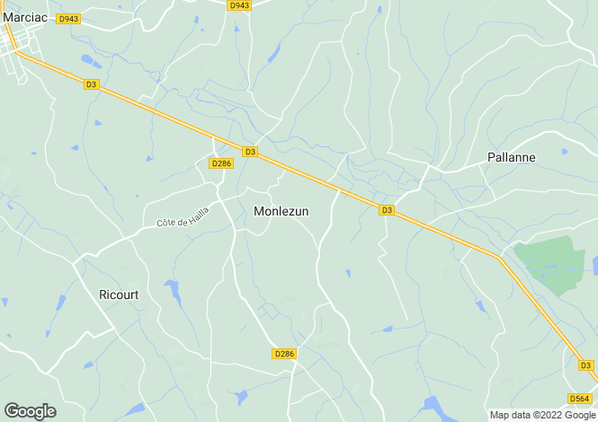 Map for monlezun, Gers, France