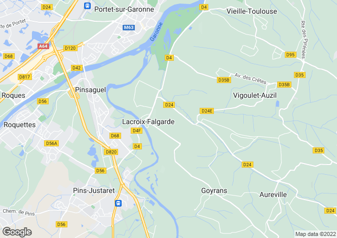 Map for lacroix-falgarde, Haute-Garonne, France