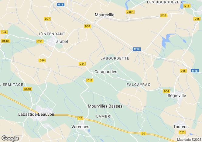 Map for caragoudes, Haute-Garonne, France