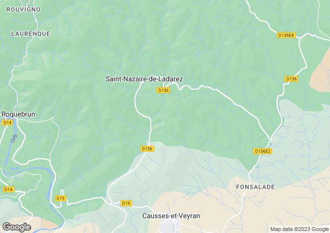 Map for St-Nazaire-de-Ladarez, Hérault, Languedoc-Roussillon