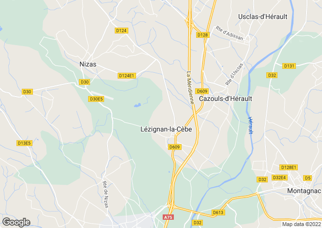 Map for Lezignan La Cebe, Herault, 34120, France