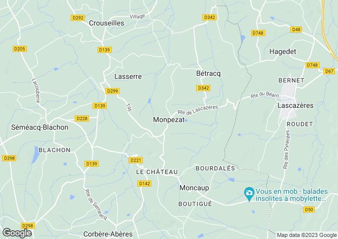 Map for Monpezat, Aquitaine, 64350, France