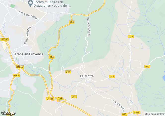 Map for Provence-Alps-Cote d`Azur, Var, La Motte