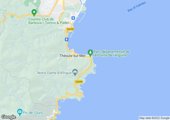 Map for Théoule-Sur-Mer, French Riviera