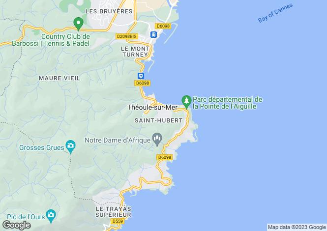 Map for Théoule-sur-Mer, Alpes-Maritimes, Provence-Alps-Cote d`Azur