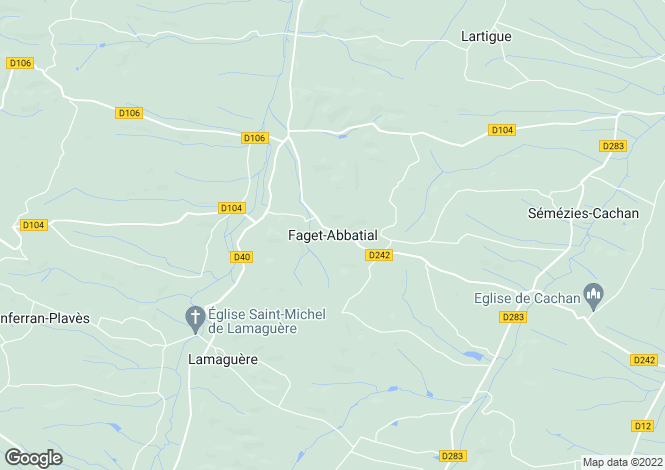 Map for Faget-Abbatial, Midi-Pyrenees, 32450, France