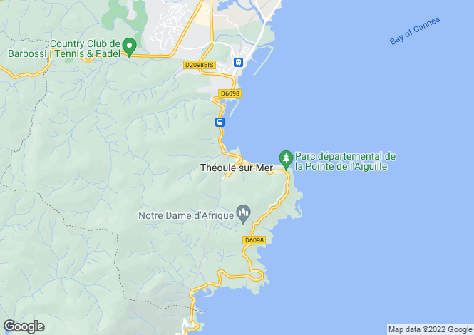 Map for Theoule-Sur-Mer, Alpes-Maritimes, 06590, France