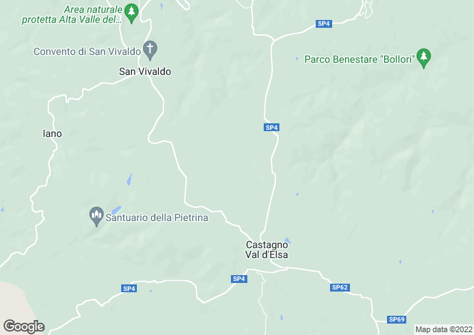 Map for Tuscany, Florence, Gambassi Terme