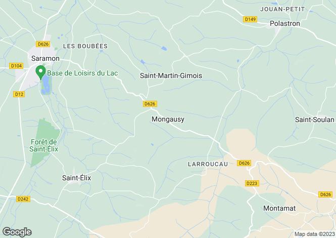 Map for Saramon, Midi-Pyrenees, 32450, France