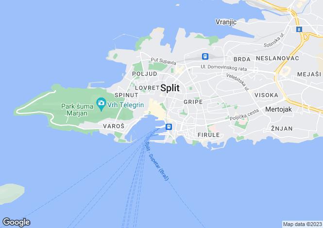 Map for Waterfront Villa, Split, Split-Dalmatia