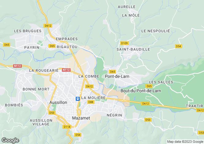 Map for pont-de-larn, Tarn, France