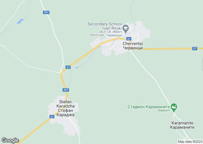 Map for Cherventsi, Varna
