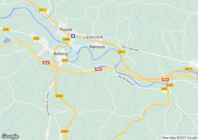 Map for Aquitaine, Pyrénées-Atlantiques, Bellocq