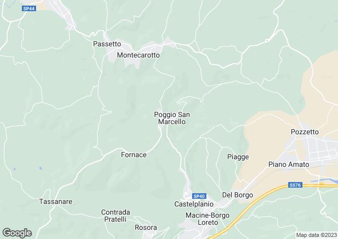 Map for Poggio San Marcello, VIA COSTE DEL MOLINO