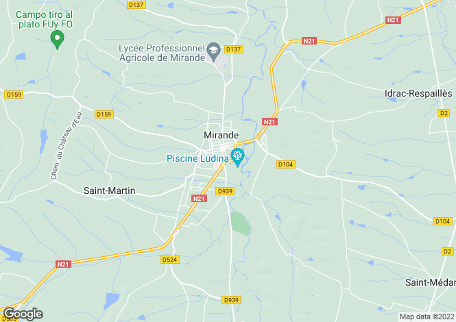 Map for mirande, Gers, France