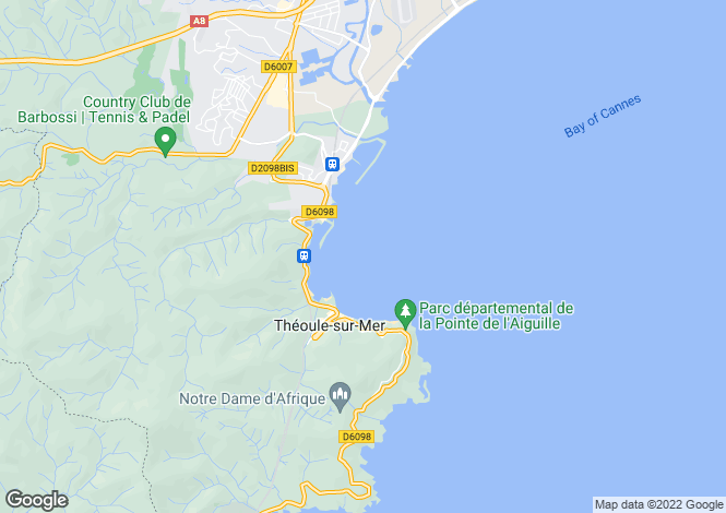 Map for THEOULE SUR MER, Cannes Area, Riviera,