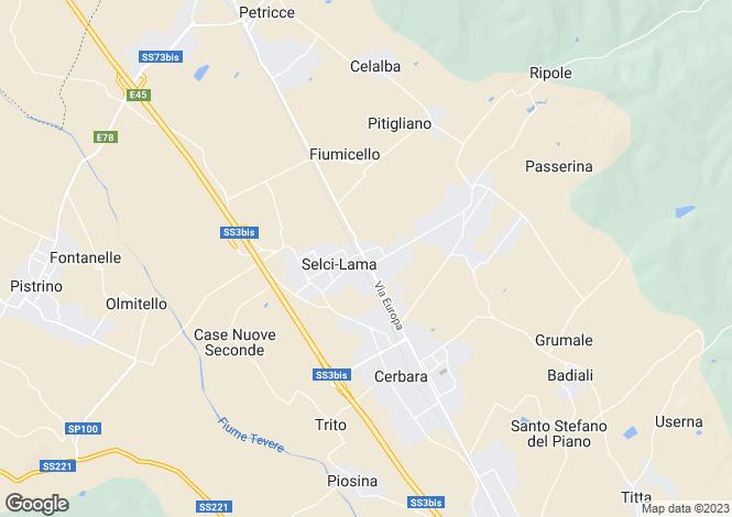Map for Umbria, Perugia