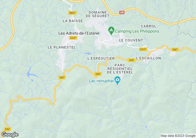 Map for Frejus, Var, 83600, France