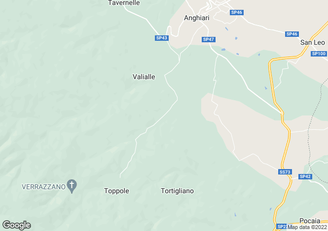 Map for Tuscany, Arezzo, Anghiari