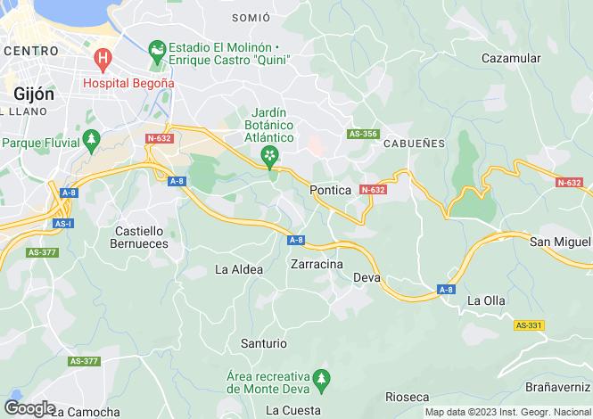 Map for Gijón-Xixón, Oviedo, Asturias