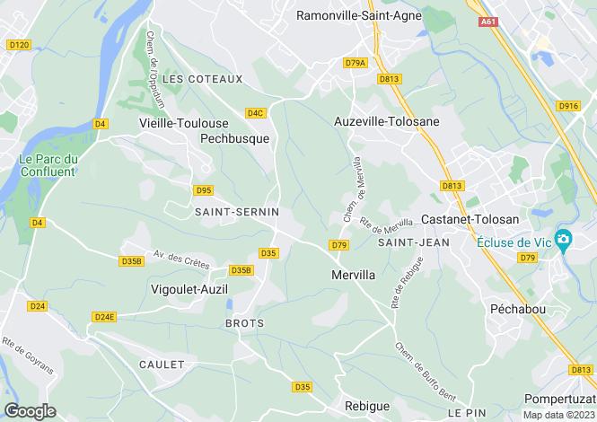 Map for pechbusque, Haute-Garonne, France