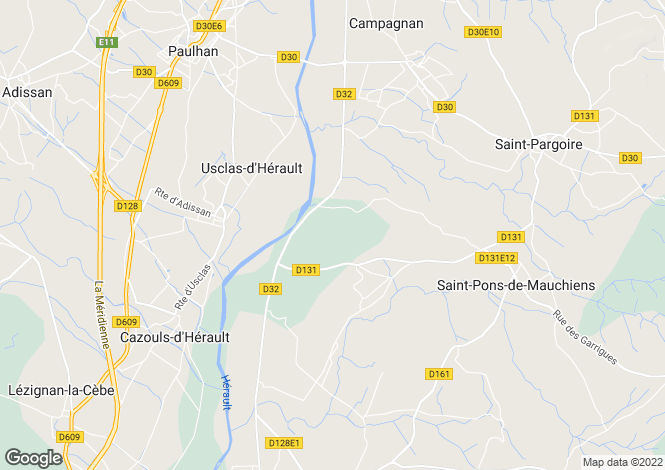 Map for HERAULT, Montpellier Area, Languedoc,