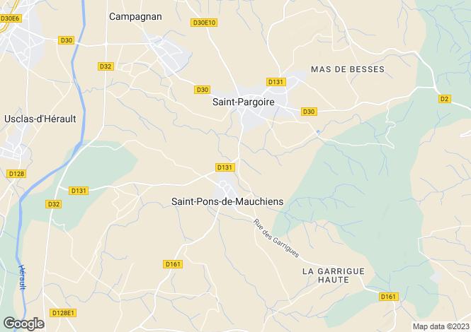 Map for pezenas, Hérault, France