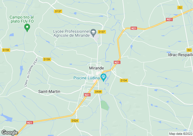 Map for Mirande, Midi-Pyrenees, 32300, France