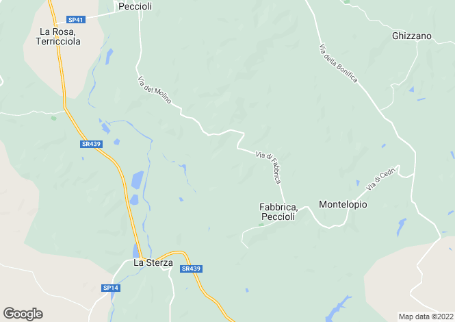 Map for Tuscany, Pisa, Peccioli