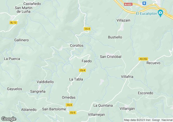 Map for Faedo, Asturias, Spain