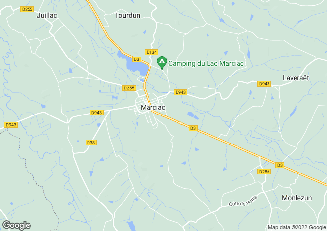Map for marciac, Gers, France