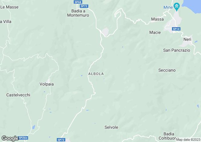 Map for Castello Albola, Radda In Chianti, Tuscany, Italy