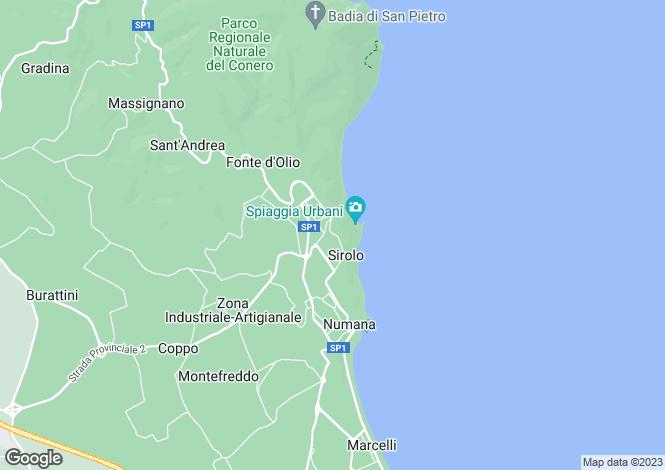 Map for Sirolo, VIA DANTE