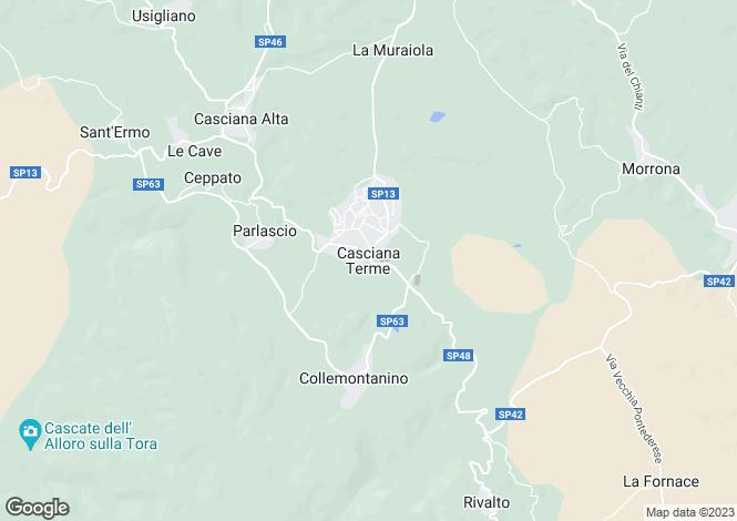 Map for Casciana Terme, Tuscany, Italy