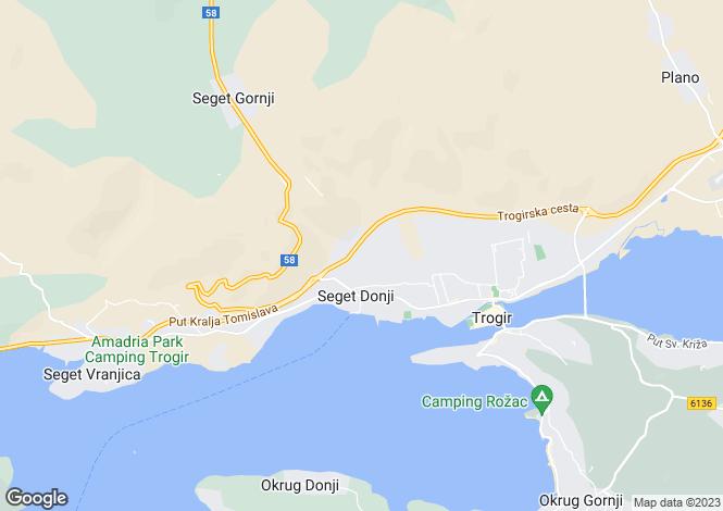 Map for Split-Dalmatia, Donji Seget