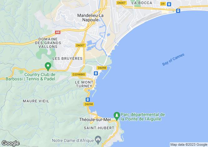 Map for LA NAPOULE, Cannes Area, Riviera,