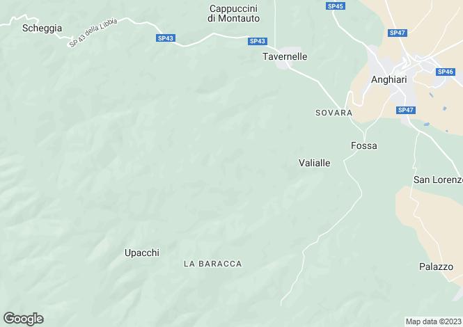 Map for Casa Molino, Anghiari, Tuscany, Italy