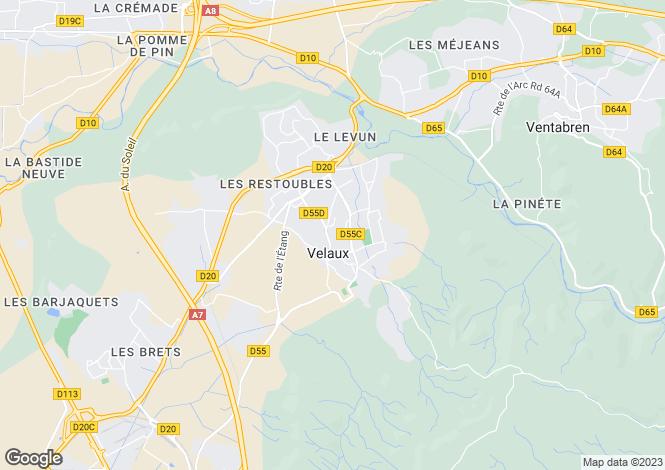 Map for Provence-Alps-Cote d`Azur, Bouches-du-Rhône, Velaux